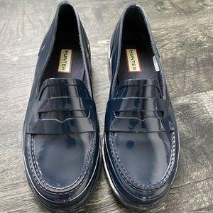 Hunter Original Women's Gloss Navy Penny Loafers